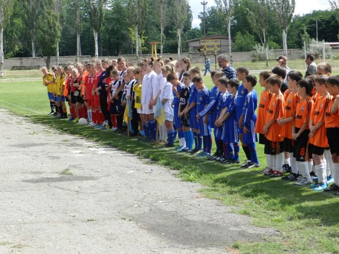 Відкриття дитячого змагання на стадіоні Машинобудівник