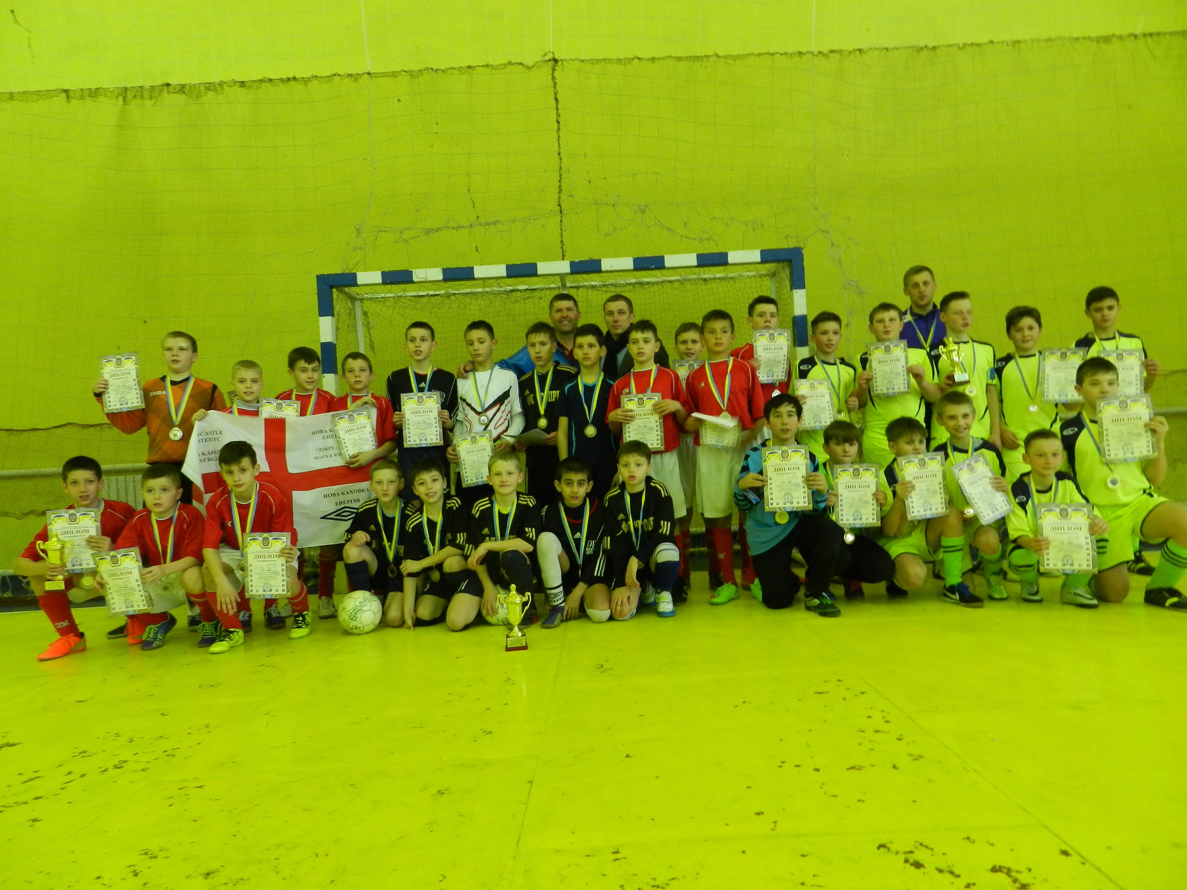 Бериславська «Освіта» отримала золото у фінальних змаганнях ІІІ етапу чемпіонату Херсонської області з футзалу сезону 2015/2016 років серед команд юнаків 2004/2005 рр.н