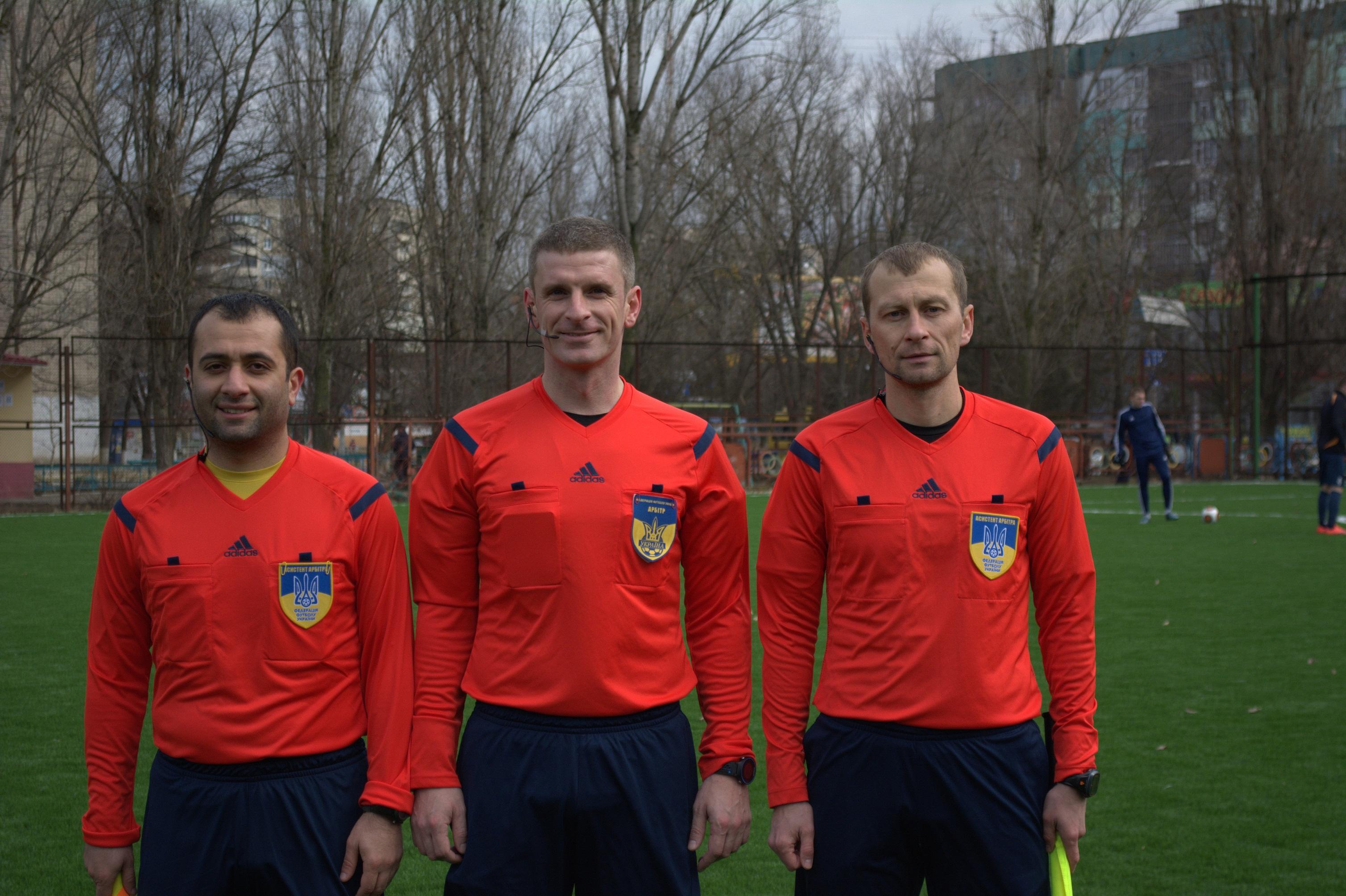 Суддівство контрольного матчу  між «Енергією» та «Суднобудівником»  здійснювали арбітри Прем'єр- ліги
