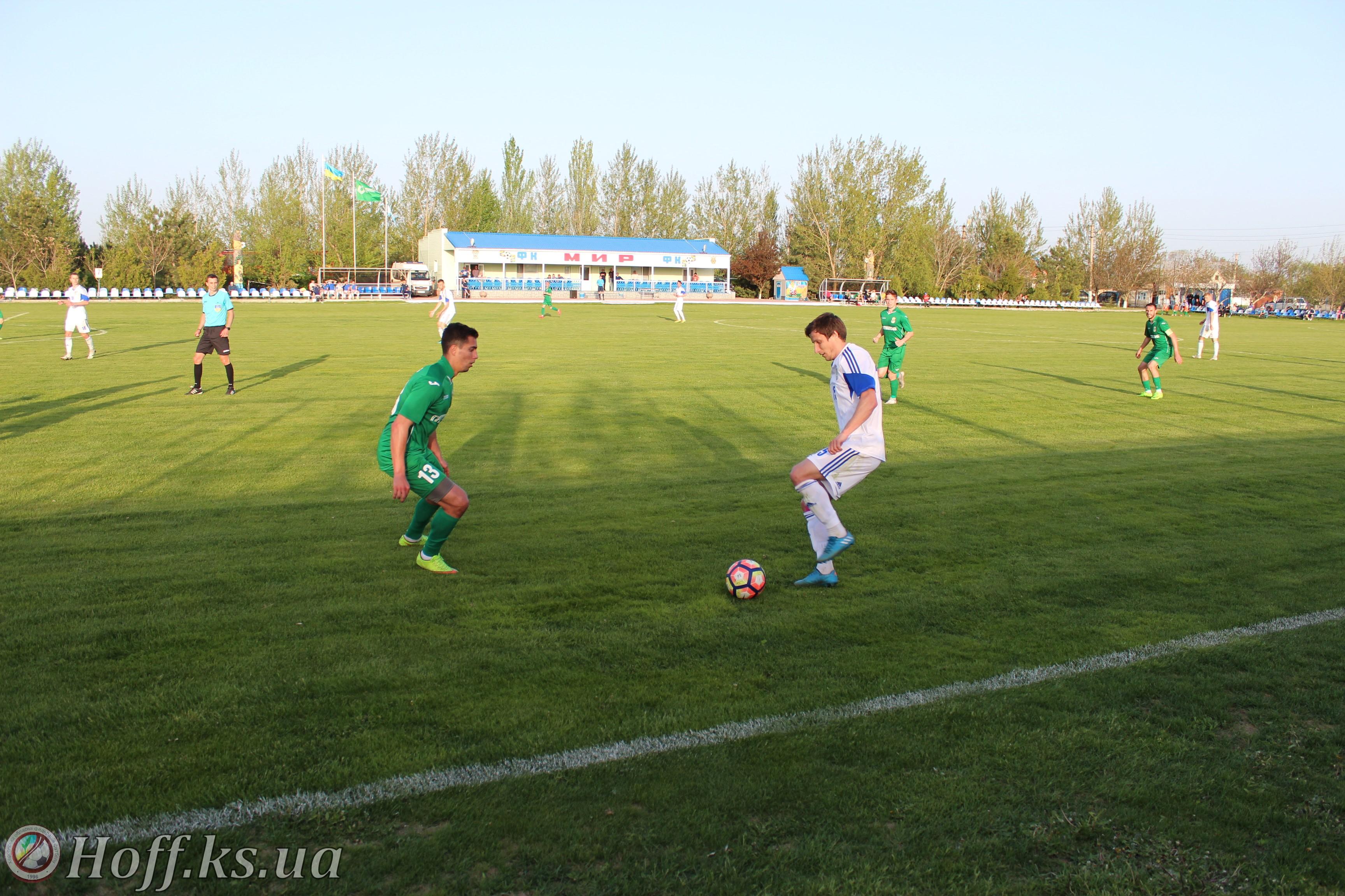 Горностаївський «Мир» знову зіграв суху нічию на рідному стадіоні