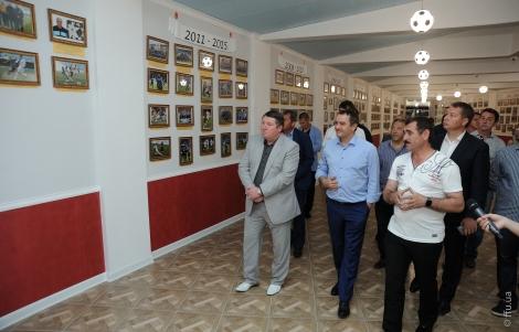 Президент ФФУ відвідав оновлений Музей футболу в Одесі
