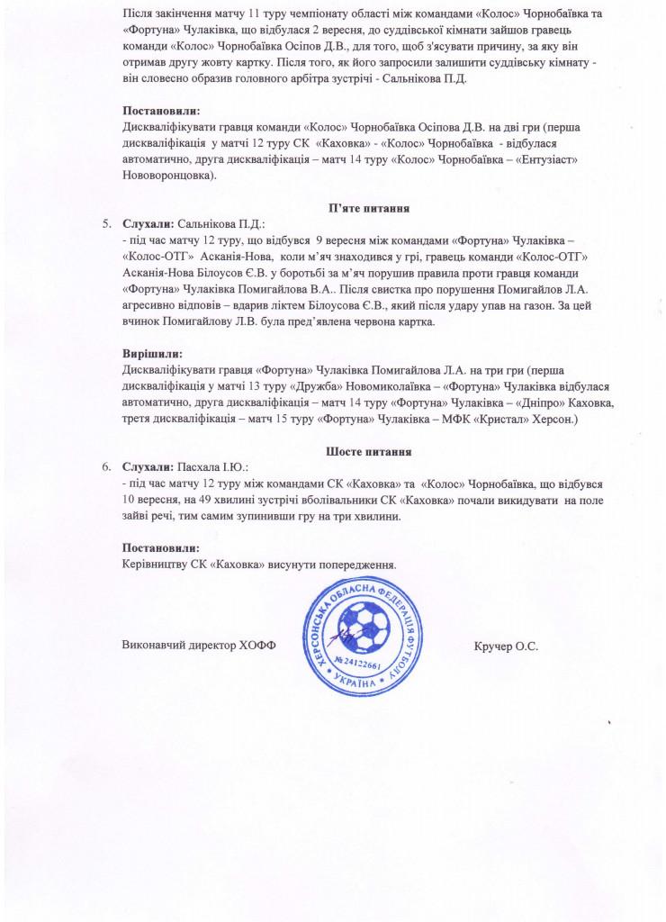 Протокол засідання КДК ХОФФ №72