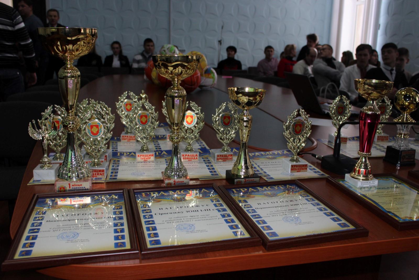 Підведення підсумків спортивного 2017 року Нижньосірогозького району