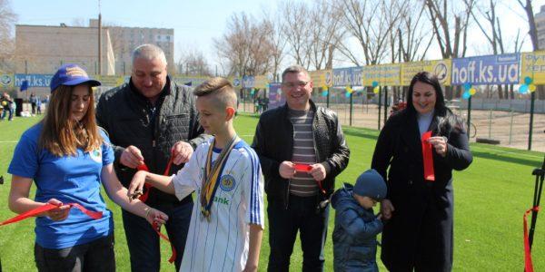 Відкрито новий футбольний майданчик в  Олешківській СЗОШ №4