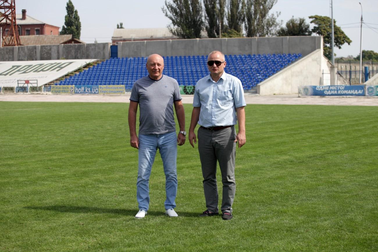 Геннадій Жданов відвідав стадіон «Кристал»