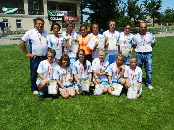 ХОДЮФЛ. Визначено чемпіона області з футболу сезону 2014/2015 років серед команд дівчат 1997/2000