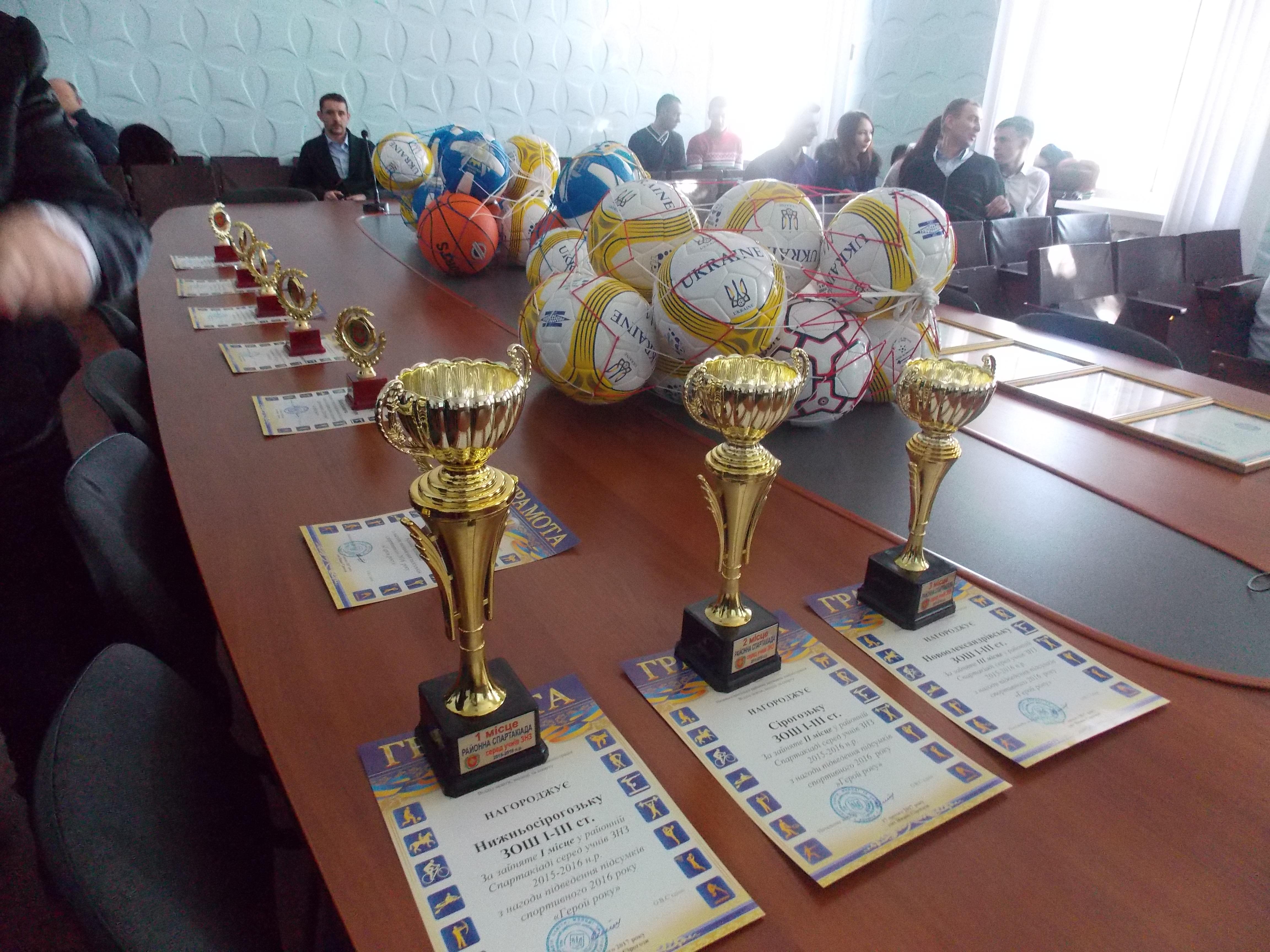 Підведення підсумків 2016 спортивного року « Герой року»