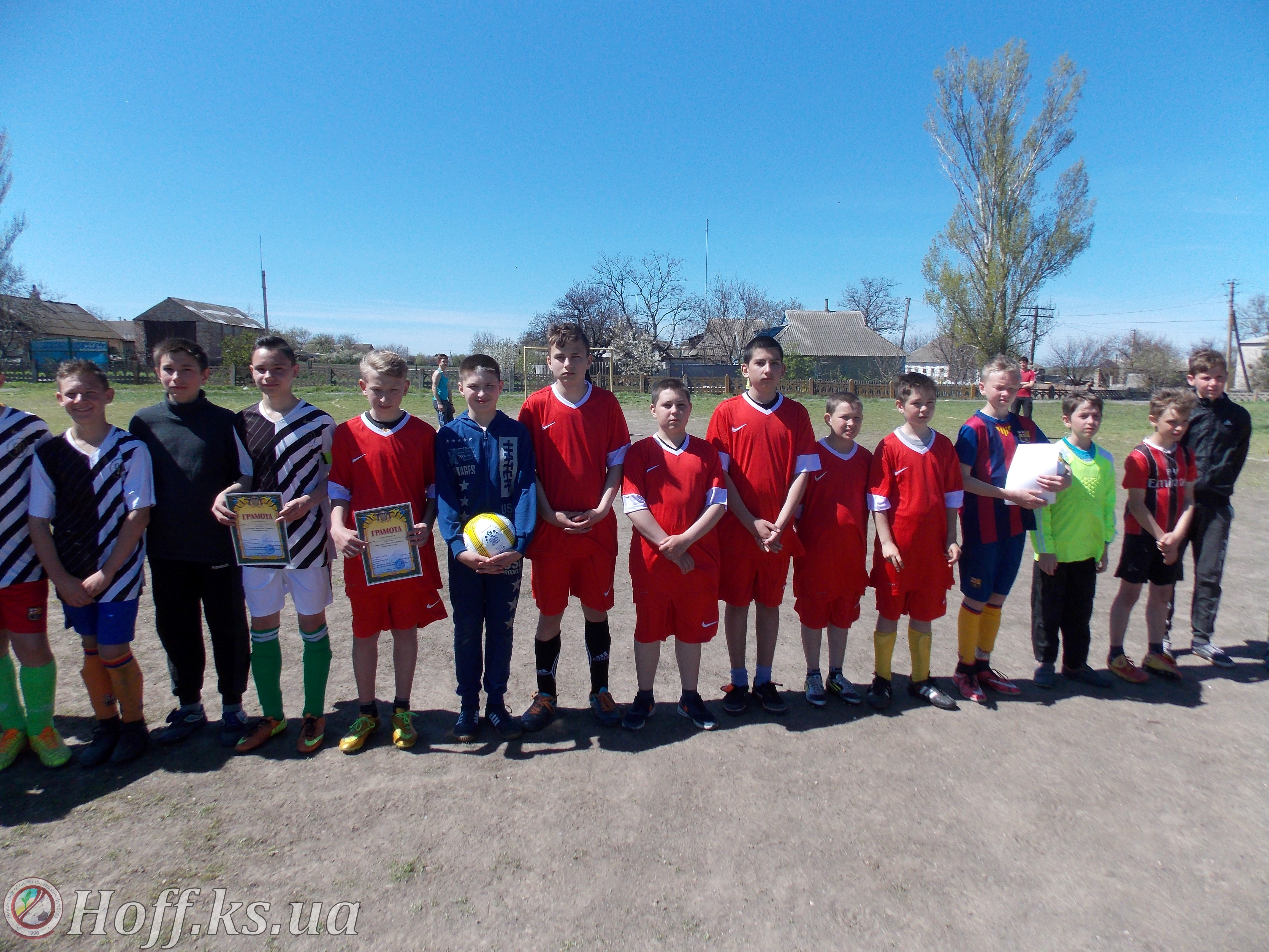 Районні змагання з футболу «Шкіряний м'яч 2017» смт. Верхній Рогачик
