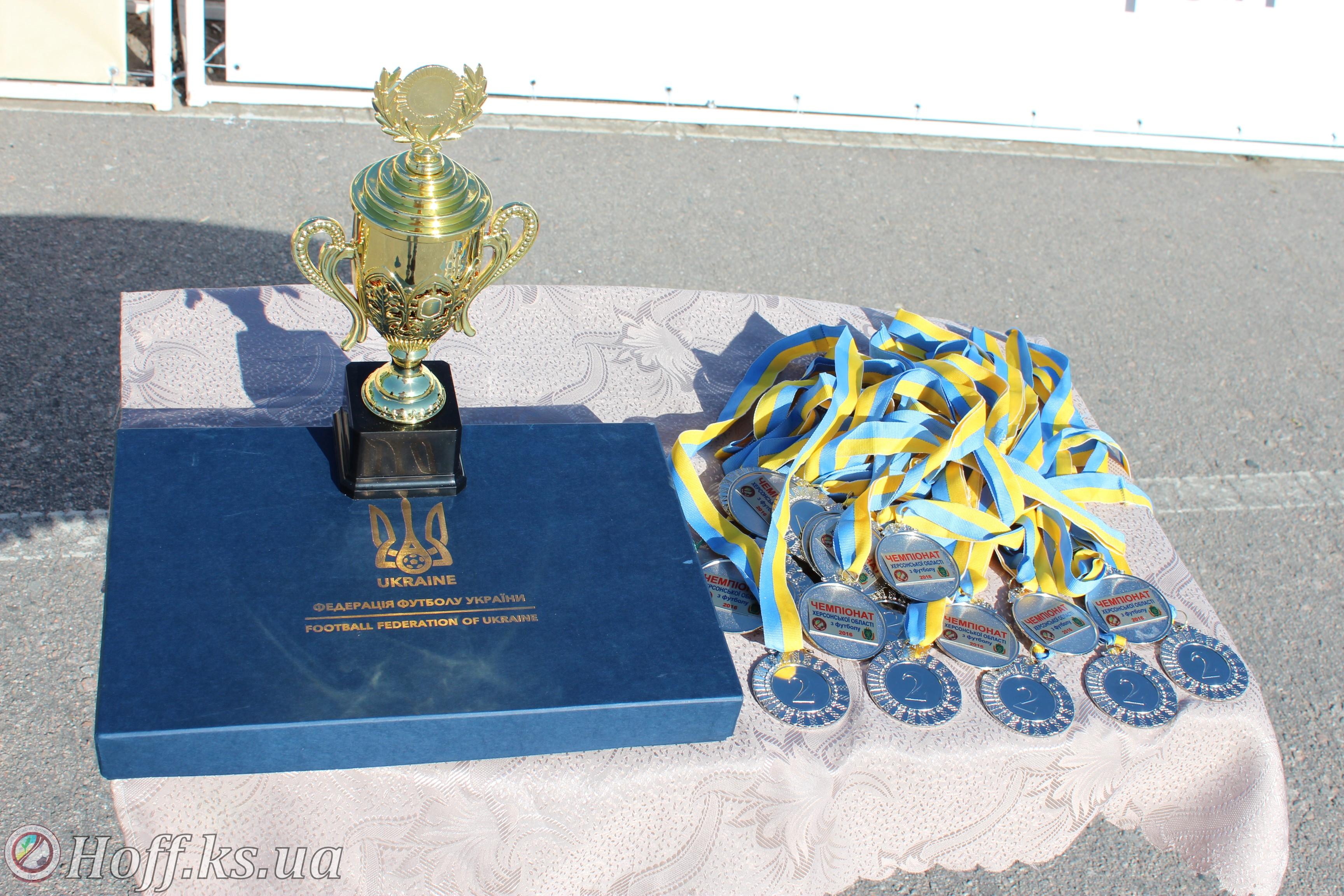 Срібний призер Чемпіонату Херсонської області 2016 року футбольний клуб «Дніпро» Каховка отримав довгоочікувану нагороду