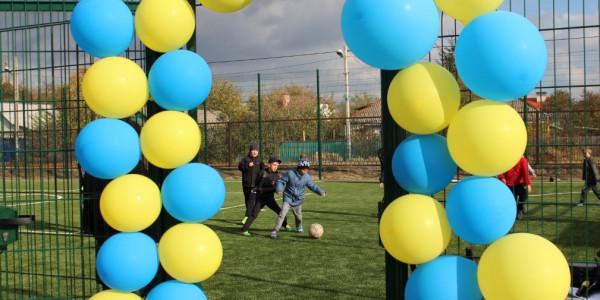 В місті Олешки відкрито новий спортивний майданчик