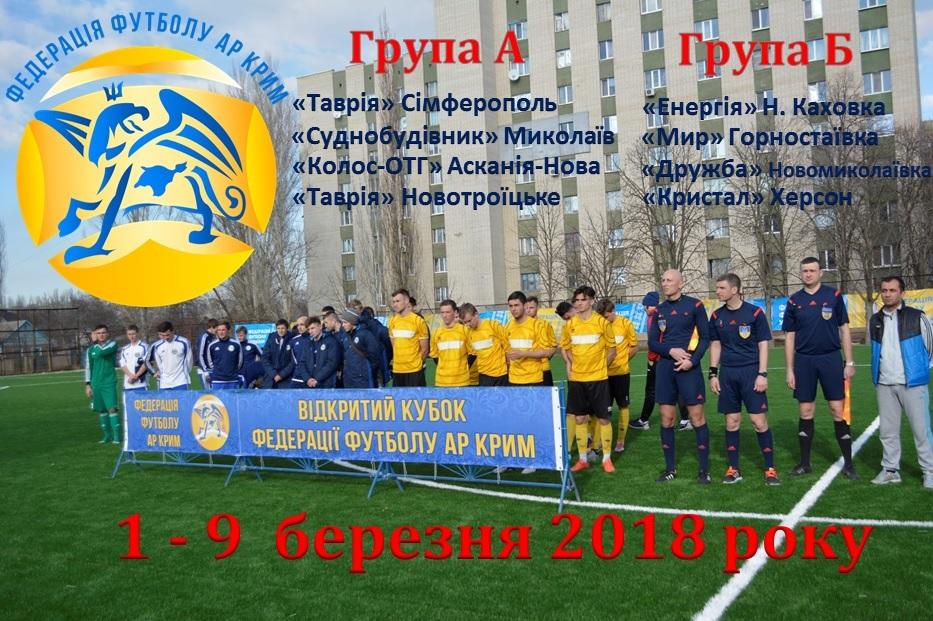 Відбулось жеребкування Кубку АР Крим 2018 року
