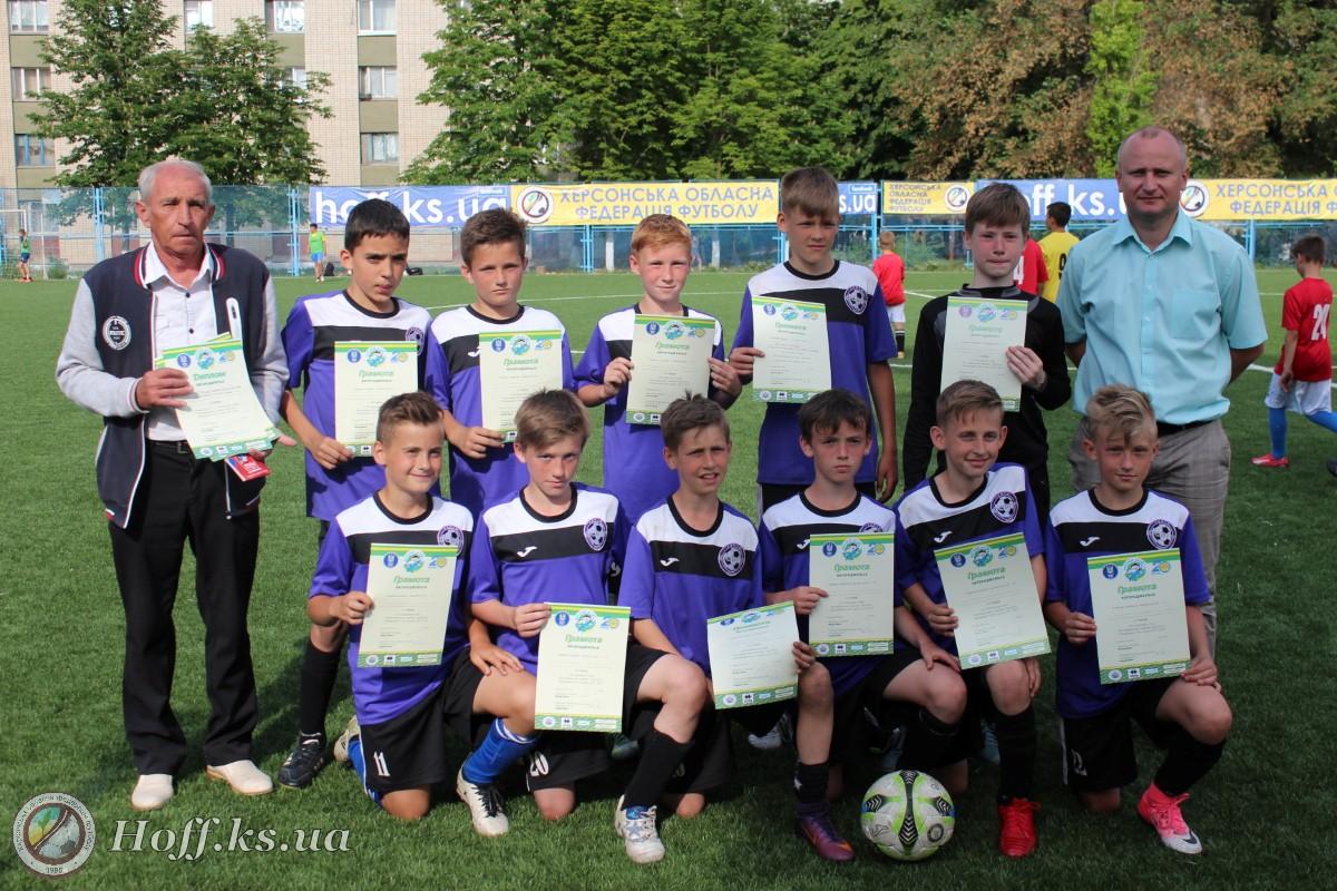 Юные херсонские футболисты попали в восьмёрку лидеров
