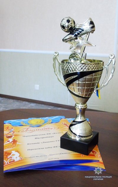 Поліцейські виграли кубок міста Херсона з футболу