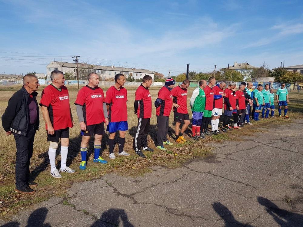 Товариський матч ветеранів у Нижньосірогозському районі.
