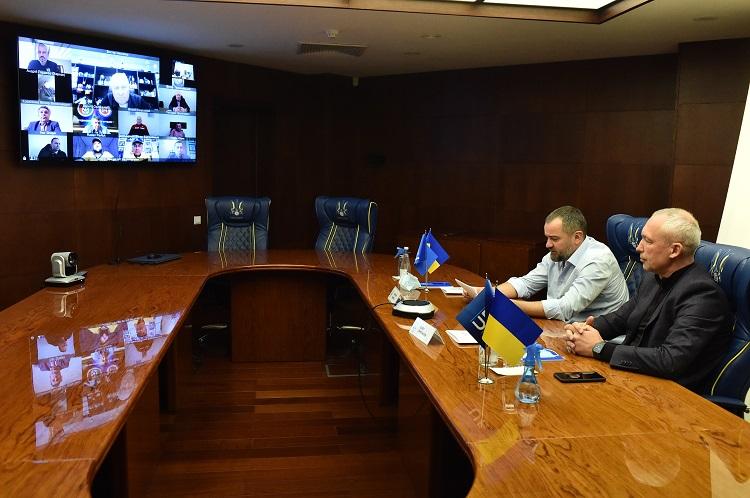 Президент УАФ провів робочу відеоконференцію з керівниками обласних асоціацій