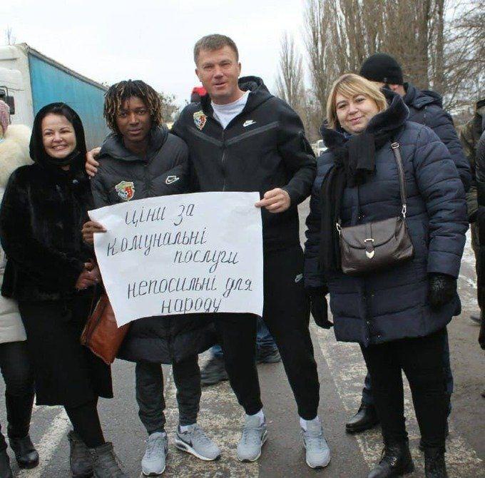 Ворскла в тренді. Максимов і Кане взяли участь у мітингу проти підвищення комунальних тарифів